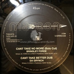 """MAROON-12""""-CANT TAKE NO MORE / BRINSLEY FORDE"""