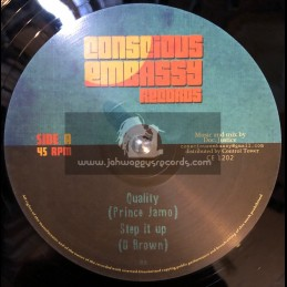 "Conscious Embassy Records-12""-Quality / Prince Jamo + Step It Up / U. Brown"