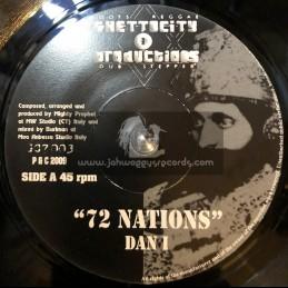 "GHETTO CITY PRODUCTIONS-7""-72 NATIONS / DAN I"