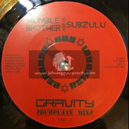 "Dub Invasion Records-7""-Gravity / Humble Brother meets Subzulu"