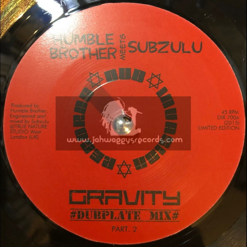 """Dub Invasion Records-7""""-Gravity / Humble Brother meets Subzulu"""