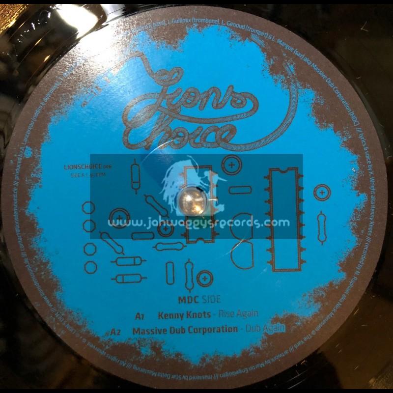 """Lion's Den-12""""-Rise Again / Massive Dub Corporation / Digitron Sound Feat. Kenny Knots"""