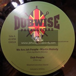 """Dubwise Productions-12""""-We Are Jah People / Martin Melody + Cant Stop The Vibes / Mike Turner"""
