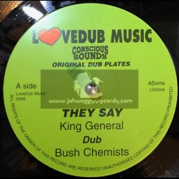 """Lovedub Music-10""""-They Say / King General + King Of Kings / Centry"""