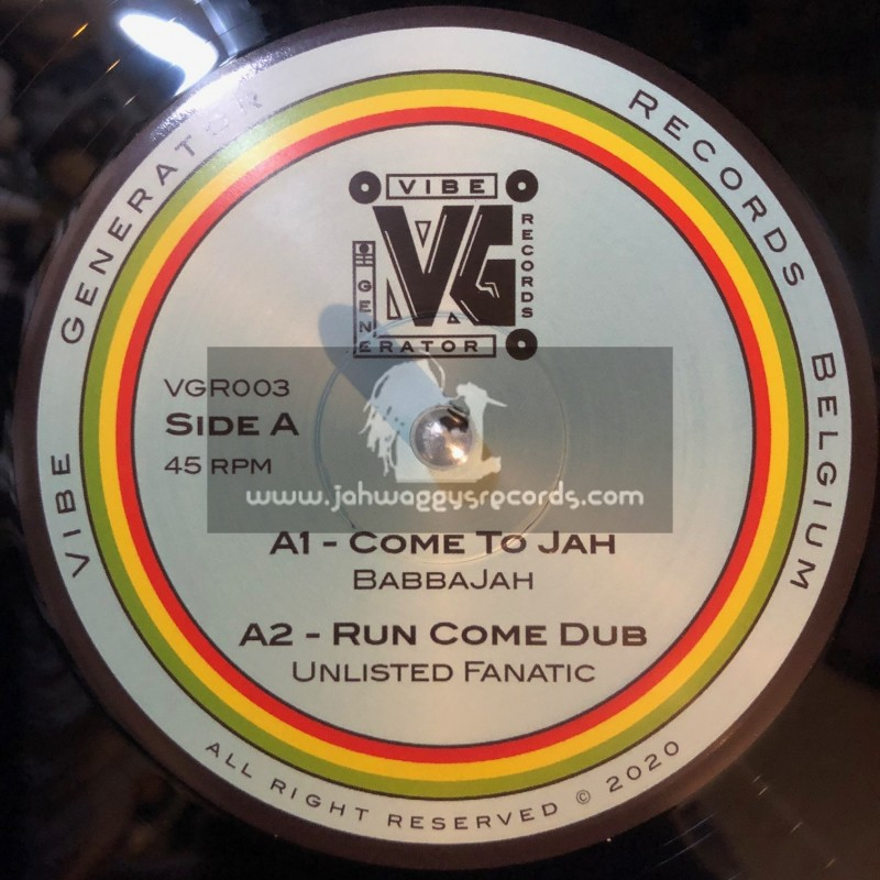 """Vibe Generator Records -12""""-Come To Jah / BabbaJah + Higher Intention / Saimn-I"""