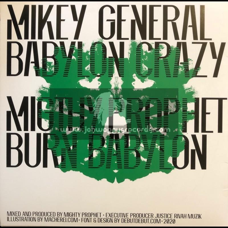 "Justice Rivah Muzik-12""-Babylon Crazy / Mikey General + Creation Stepper / Iyah Ranks"