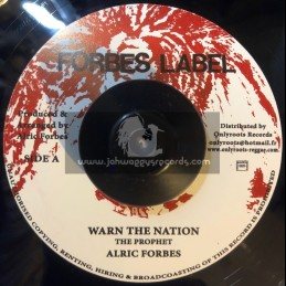 "Forbes Label-7""-Warn The Nation / The Prophet"