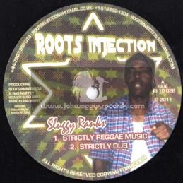 "Roots Injection-10""-Strictly Reggae Music + Badman / Sluggy Ranks"