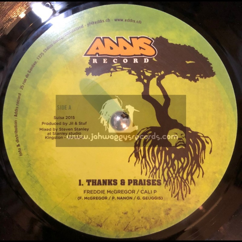 "Addis Records-7""-Thanks & Praises / Freddie McGreggor & Cali P + Talk To Dem / Natty King & Daddy Rings"