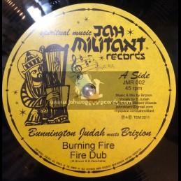 """Jah Militant Records-12""""-Bunnington Judah Meets Brizion & Don Fe"""