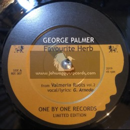 """One By One Records-7""""-Favourite Herb / George Palmer Valmeria Roots - Limited Edition"""
