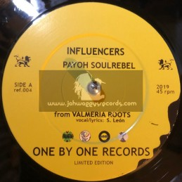 """One By One Records-7""""-Influencers / Payoh SoulRebel - Valmeria Roots - Limited Edition"""