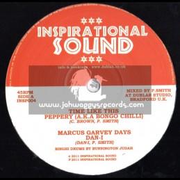 "Inspirational Sound-10""-Time Like This / Bongo Chilli + Marcus Garvey Days / Dan -I"