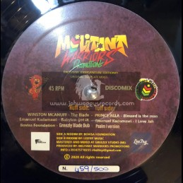 """Militant Warriors Promotion-12""""-The Blade / Winston Mcanuff + Blessed Is The Man / Prince Alla"""