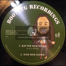 "Bootleg Recordings-10""-Batter Dem Down / Ras Peter + Mother Of Creation / Ras Peter"