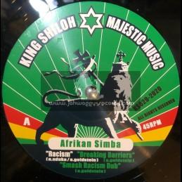"""King Shiloh Majestic Music-12""""-Racism / Afrikan Simba + Have No Fear / Afrikan Simba"""