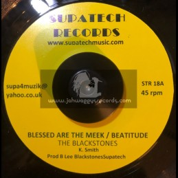 """Supatech Records-7""""-Blessed Are The Meek/Beatitude-The Blackstones+I Wanna Hold You In My Arms/Lenny Banton & The Blackstones"""