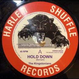 "Harlem Shuffle Records-7""-Hold Down / Kingstonians + Nice Nice / Kingstonians"