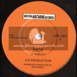 """Bristol Archive Records-7""""-Riot + Re-Arrange Version (3-D Productions)"""