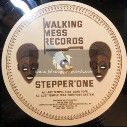 """Walking Mess Records-12""""-Stepper'One / Lost Temple Feat. Guru Pope"""
