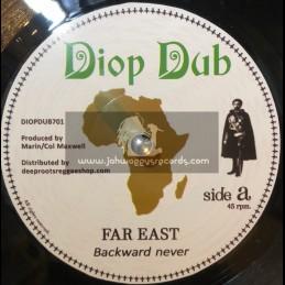 """Diop Dub-7""""-Backward Never / Far East + Forward Dub / Nyabin Meets Dougie Conscious"""