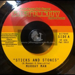 "Ghetto City Productions-7""-Sticks And Stones / Murray Man"