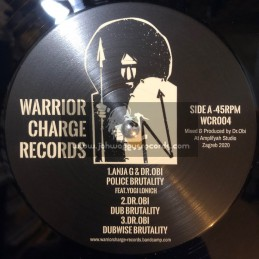 "Warrior Charge Records-12""-Police Brutality / Anja G & Dr. Obi Feat. Yogi Lonich + City On Fire / Vibronics"