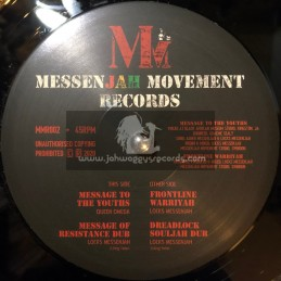 "MessenJAH Movement Records-12""-Message To The Youths / Queen Omega + Frontline Warriyah / Locks MessenJAH"