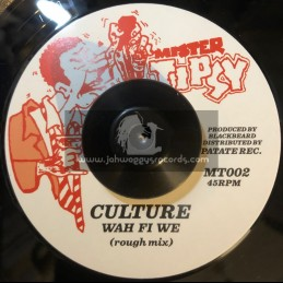 """Mister Tipsy-7""""-Wah Fi We / Culture"""