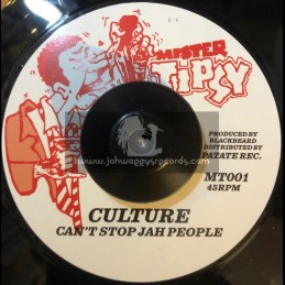 """Mister Tipsy-7""""-Can't Stop Jah People / Culture - Rough Mix"""