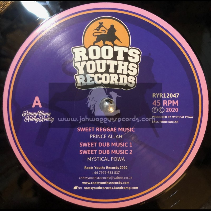 """Roots Youths Records-12""""-Sweet Reggae Music / Prince Alla Meets Mystical Powa + Epic Trumpet / Aba Ariginal"""