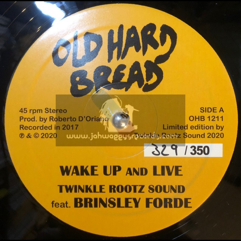 """Old Hard Bread-12""""-Wake Up And Live / Twinkle Rootz Sound feat. Brinsley Forde"""