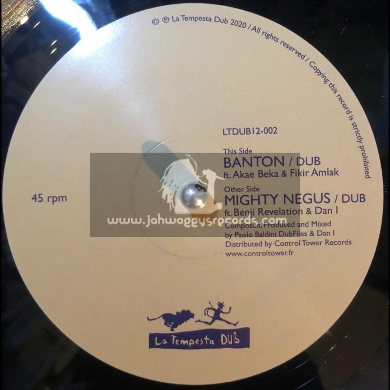 """La Tempesta Dub-12""""-Banton / Akae Beka & Fikir Amlak + Mighty Negus / Benji Revelation & Dan I"""