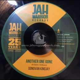 """Jah Warrior Records-7""""-Another One Gone / Donovan Kingjay"""
