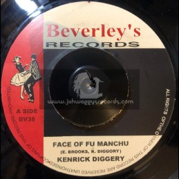 "Beverleys Records-7""-Face Of Fu Manchu / Kenrick Diggory"