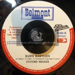 "Belmont Records-7""-Burn Babylon / Sylford Walker"