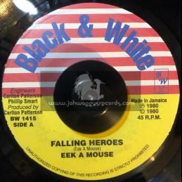 """BLACK & WHITE-7""""-Fallen Heroes / Eek A Mouse"""