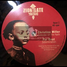 """ZION GATE MUSIC 12""""-CONQUERING LION / ANTHONY JOHN + DEFENDER OF THE FAITH / CHRISTINE MILLER"""