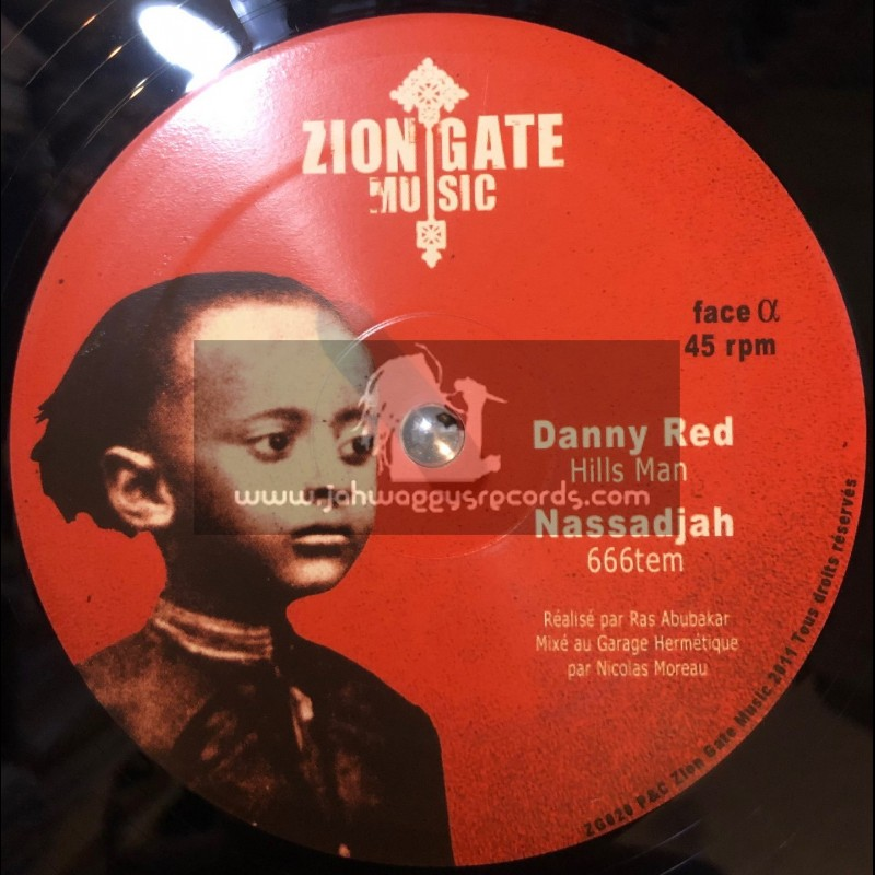 "ZION GATE MUSIC-12""-HILLS MAN RIDDIM / DANNY RED-ANTHONY JOHN-NASSADJAH"