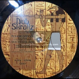 """Dub Skrollz Records-10""""-Please Officer / Reality Souljahs + Trodding Out Of Rome / Ras Tuffy Irie"""