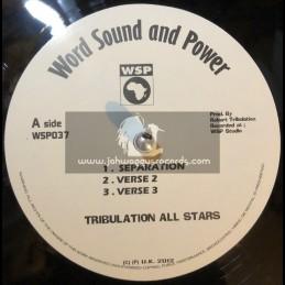 """Word Sound & Power-12""""-Separation + Arguement Dub / Tribulation All Stars"""