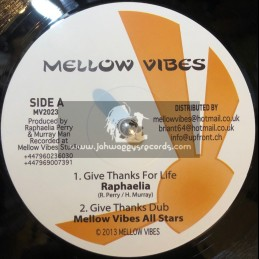 """Mellow Vibes-12""""-Thanks For Life / Rafeelya + Jah Is Looking Over / Murray Man"""