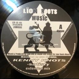 """Lion roots music-12""""-Satisfy / Kenny knotts + Wrong road / princess thundah"""