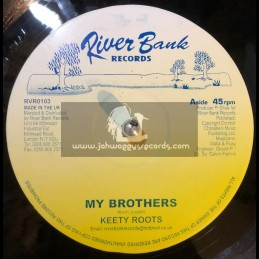 """RIVERBANK RECORDS-10""""-MY BROTHERS / KEETY ROOTS"""