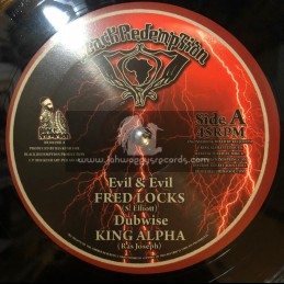 """Black Redemption-10""""-Evil And Evil / Fred Locks + Stay Away / Ras Mcbean - King Alpha Dubwise"""