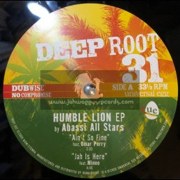 """Deep Root-10""""-Humble Lion EP,Feat Omar Perry,Minoo + Prince David-Abassi All Stars."""