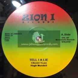 """Zion I Records-12""""-Tell I A Lie / Hugh Mundell + Jah Music / Hugh Mundell"""