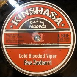 """Kinshasa Records-7""""-Cold Blood Viper / Ras Zacharri"""