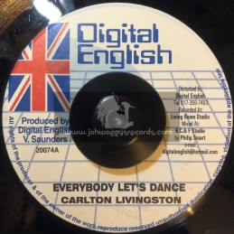 "Digital English-7""-Everybody Lets Dance / Carlton Livingstone"