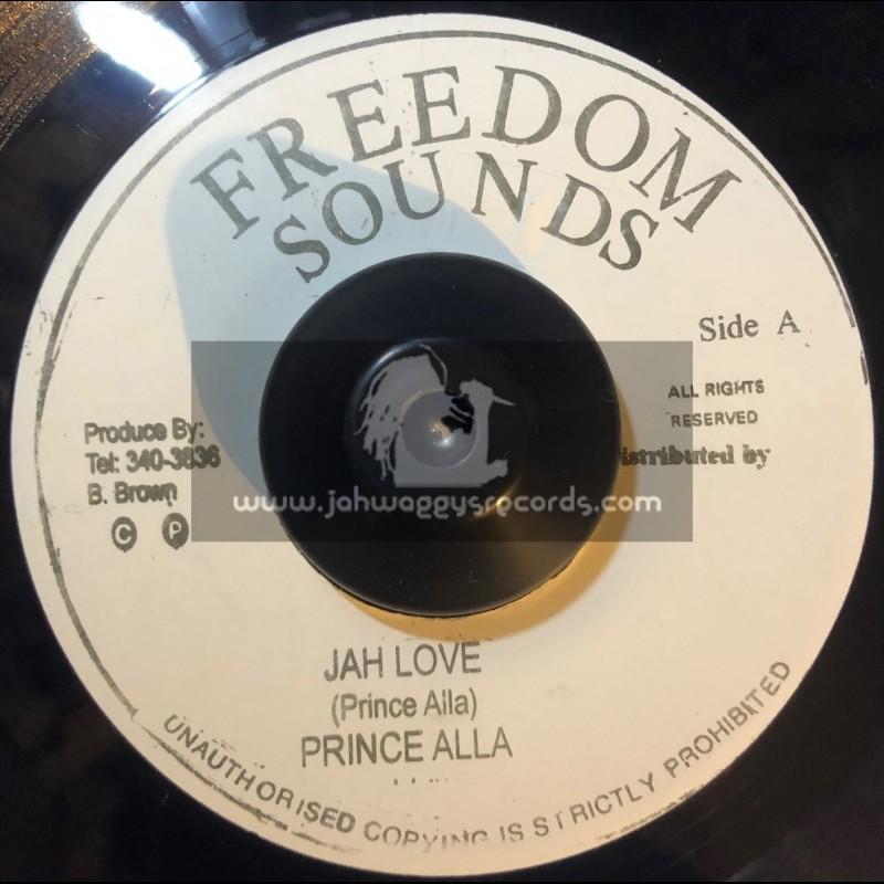 "Freedom Sounds-7""-Jah Love / Prince Alla + African Princess / Donavon Joseph"
